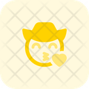Blowing A Kiss Cowboy Icon