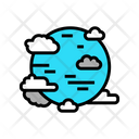 Blue Planet Clouds Icon