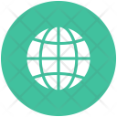 Blue Global Globe Icon