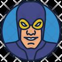 Blue Beetle Warrior Superhero Icon