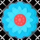 Blue Calendula Icon