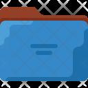 Blue Office Folder Icon