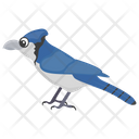 Blue Jay Mockingbird Feather Creature Icon