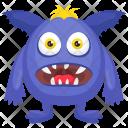 Blue Cartoon Halloween Icon