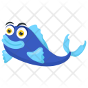 Blue Moorii Tropical Icon