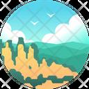 Blue Mountain Lanscape Mountain Icon