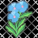 Blue Plumbago Flower Blossom Icon