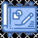 Blue Print Design Draft Icon