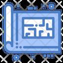 Blue Print Blue Plan Icon