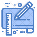 Blue Print Document Draft Icon