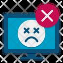 Blue Screen Binary Code Error Coding Error Icon