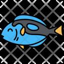 Blue Tang Fish Dory Blue Tang Fish Sea Creature Icon