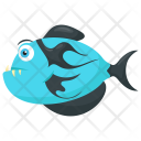 Blue Tiger Fish Icon