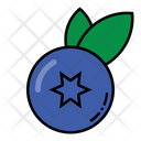 Blueberry Fruit Healthy Icon
