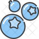 Blueberry Bog Whortleberry Berries Icon