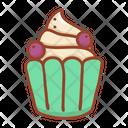 Blueberry cupcake Icon