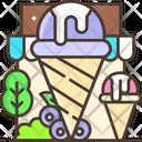 Blueberry Ice Cream Blueberry Ice Cream Cone Icon