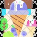 Blueberry Ice Cream Icon