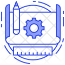 Prototype Blueprint Architecture Work Icon