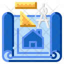 Design Blueprint Drawing Icon