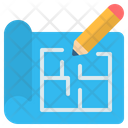 Blueprint Plan Document Icon
