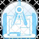Prototyping Architecture Work Blueprint Icon