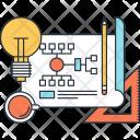 Blueprint Structure Flowchart Icon
