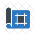 Blueprint Statistics Mathematics Icon