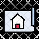 Blueprint Map House Icon