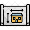 Blueprint Building Drawing Icon