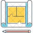 Blueprint Reproducation Construction Icon