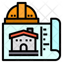 Blueprint House Buildings Icon
