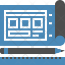 Blueprint Design Layout Icon