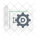 Blueprint Map Engineering Icon