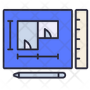 Blueprint Design Drawing Icon