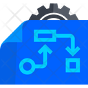 Blueprint Flowchart Diagram Icon
