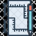 Measurements Ruler Yardage Icon