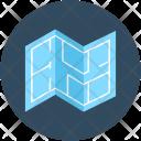 Blueprint Map Construction Icon