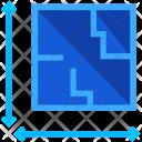 Blueprints Size Measurement Icon