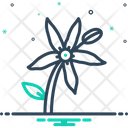 Bluestar Flower Icon