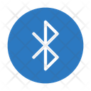 Bluetooth Sign Button Icon