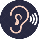 Bluetooth Earphone Hearing Icon