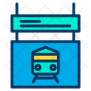 Digital Board Digital Railway Display Digital Display Icon