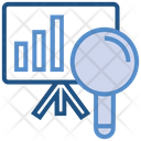 Data Analytics Board Magnifier Icon