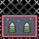 Board Christmas Celebration Icon