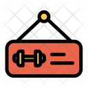 Board Gym Label Icon