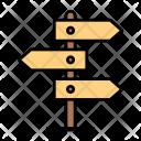 Board Direction Path Icon