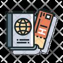 Boarding Pass Passport Icon