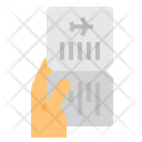 Ticket Airplane Flight Icon