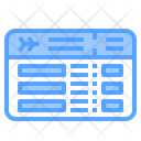 Boarding Pass Ticket Travel Icon